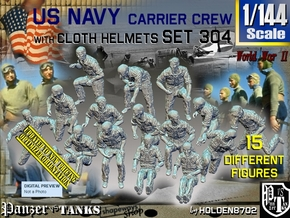 1/144 USN Carrier Deck Crew Set304 in Smooth Fine Detail Plastic