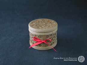 Gift Box round No. 1 with Mosaik-2 (solid, short) in White Strong & Flexible