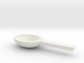Spoon in White Natural Versatile Plastic