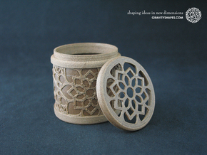 Gift Box No. 1 with Mosaic-2 (solid-filigree high) in White Natural Versatile Plastic