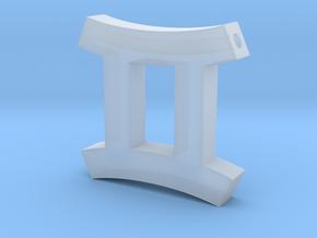 Gemini Symbol Pendant in Smooth Fine Detail Plastic