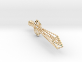 Polygonal Sword in 14K Yellow Gold