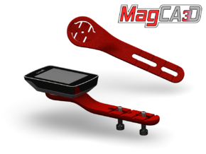 MOst Talon Garmin Mount in Red Strong & Flexible Polished