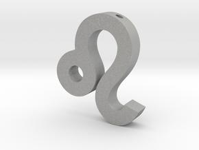 Leo Symbol Pendant in Aluminum