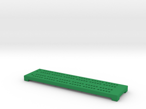 Cribbage Board - Really Small in Green Processed Versatile Plastic