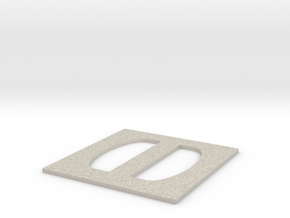 Simple Large Buckle in Natural Sandstone