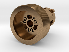 MR DM Fast Connector Male in Natural Brass