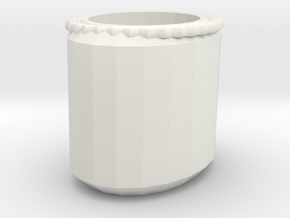 flower pot in White Natural Versatile Plastic: Medium