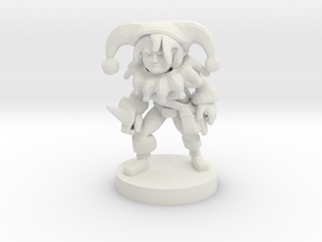 Halfling Female Clown Rogue in White Strong & Flexible