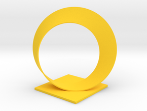 Mobius Trophy in Yellow Processed Versatile Plastic