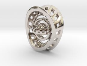 RingX in Rhodium Plated Brass: Small