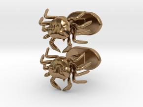 Crabbs cufflinks in Natural Brass