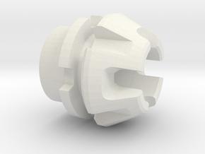 Custom CC Crystal Energy Port V1 in White Natural Versatile Plastic