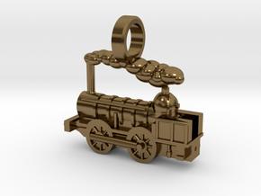 Locomotive Coppernob Jewellery Pendant in Polished Bronze