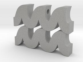 Aquarius Symbol Pendant in Aluminum