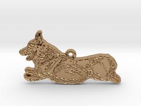 Joyful Running (detailed) in Polished Brass