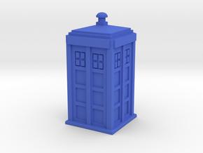 TARDIS (simple) in Blue Processed Versatile Plastic