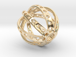 Ring X3 in 14k Gold Plated Brass: Small
