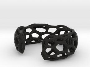 Lakatos Cuff in Black Natural Versatile Plastic: Small