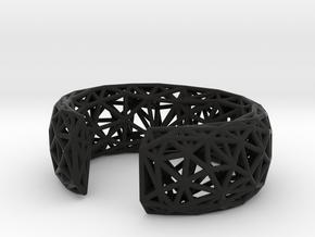 Obtuse Cuff in Black Natural Versatile Plastic