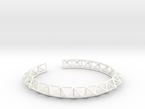 Echidna Collar in White Processed Versatile Plastic
