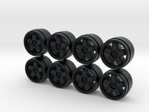 JACCS Civic MR5 8-6 Centerlock Hot Wheels Rims in Black Hi-Def Acrylate