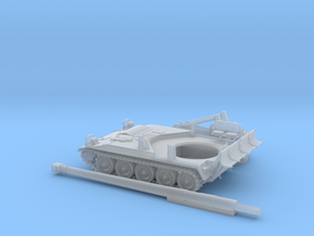 M-110A2-3pieces-100-proto-01 in Smooth Fine Detail Plastic