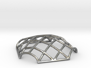 Gridshell Pendant in Natural Silver
