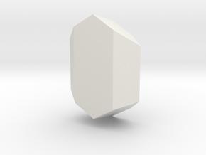 Spodumene, 25 mm in White Natural Versatile Plastic