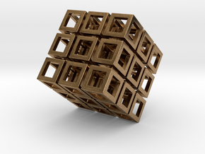 Cube1 in Natural Brass: Small