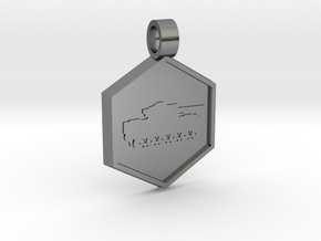 Tank [pendant] in Polished Silver