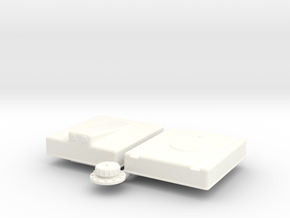 1/12 Fuel Cell RJS-12g-16-18-9-Sump in White Processed Versatile Plastic