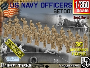 1/350 USN Officers Set001 in Smoothest Fine Detail Plastic