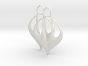 Caley Earrings in White Premium Versatile Plastic