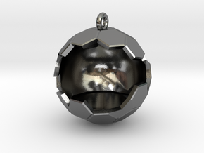 Geode Ornament in Polished Silver