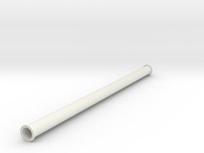 """36"""" pipe with flanges in White Natural Versatile Plastic"""