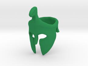 Spartan Helmet Ring in Green Processed Versatile Plastic: 9 / 59