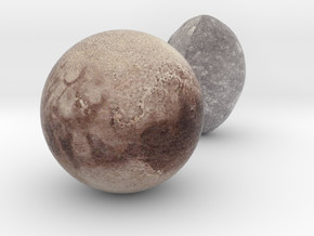 Haumea and Pluto in Full Color Sandstone