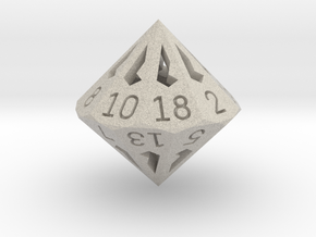 18 Sided Die - Large in Natural Sandstone