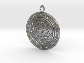 Codex of Ultimate Wisdom (Knotwork Version) in Natural Silver