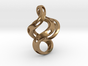 Ring X5 in Natural Brass (Interlocking Parts): Small