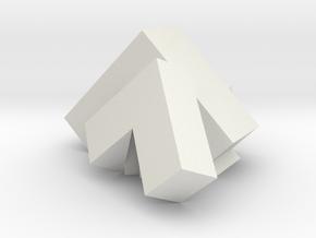 Sydler pi/4 polyhedron in White Natural Versatile Plastic