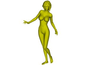 1/24 scale nude beach girl posing figure B in Smooth Fine Detail Plastic