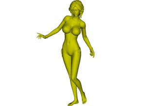 1/35 scale bikini beach girl posing figure B in Smooth Fine Detail Plastic