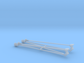 wheelie bars 1/25 in Smooth Fine Detail Plastic