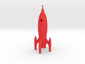 Rocket Ship in Red Strong & Flexible Polished