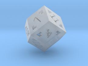 Rhombic 12 Sided Die - Large in Smooth Fine Detail Plastic
