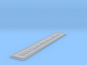 Nameplate USS North Carolina BB-55 in Smoothest Fine Detail Plastic