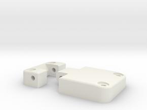Functional door hinge left D90 D110 TRC 1/4 in White Natural Versatile Plastic