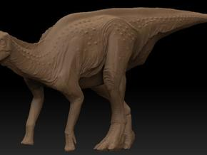 Female Lambeosaurus m. Standing Small in White Natural Versatile Plastic